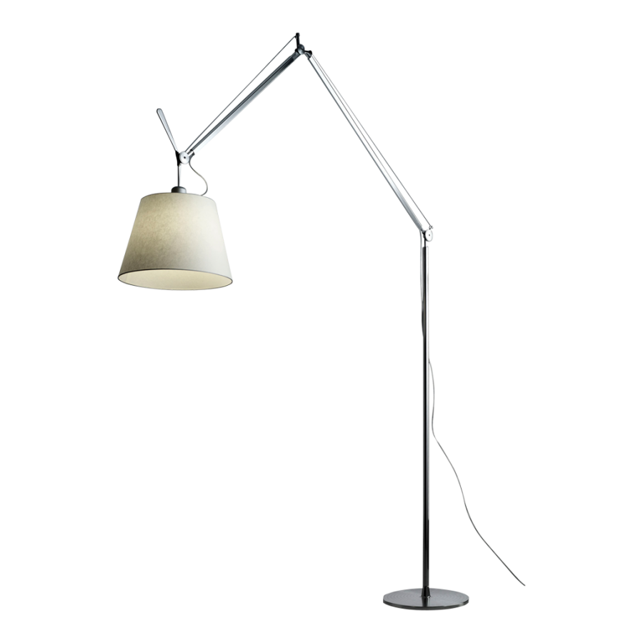 artemide tolomeo mega terra floor lamp parchment shade. Black Bedroom Furniture Sets. Home Design Ideas