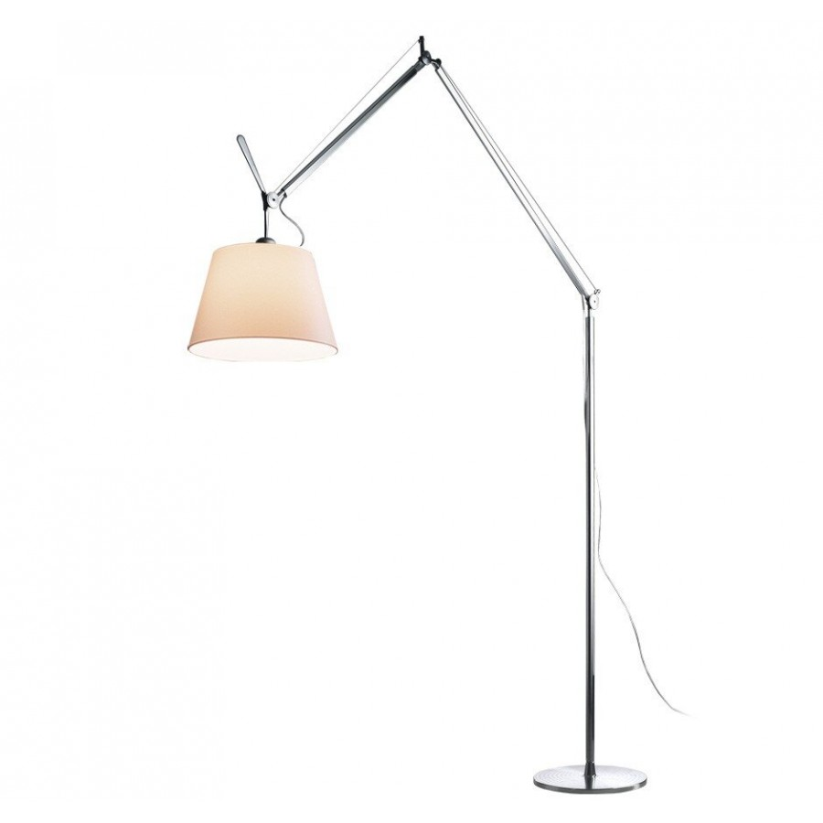 Artemide tolomeo mega terra floor lamp parchment shade for Tolomeo reading floor lamp with parchment shade