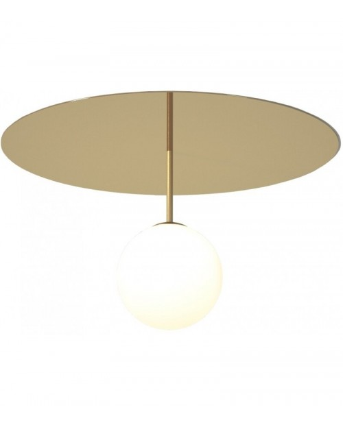 Atelier Areti Plate & Sphere with Stem Wall Lamp