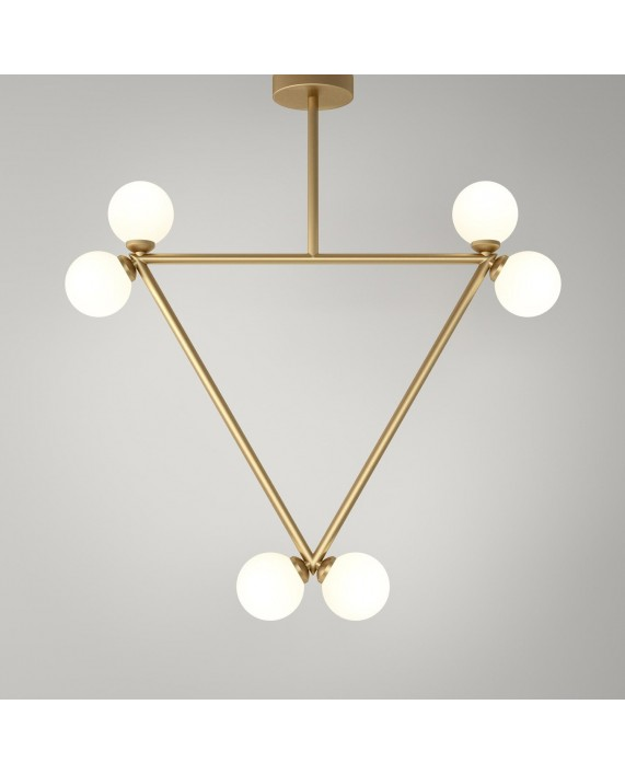 Atelier Areti Triangle with 6 Globes Pendant Lamp