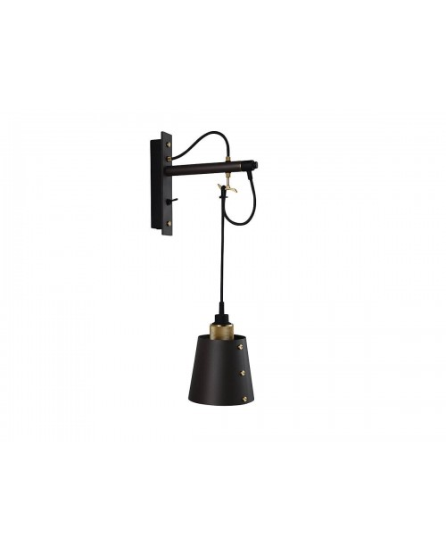 Buster + Punch Hooked Small Graphite Wall Lamp