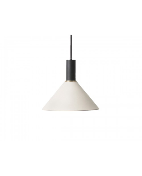 Ferm LIVING Collect Pendant with Cone Shade and Black Socket