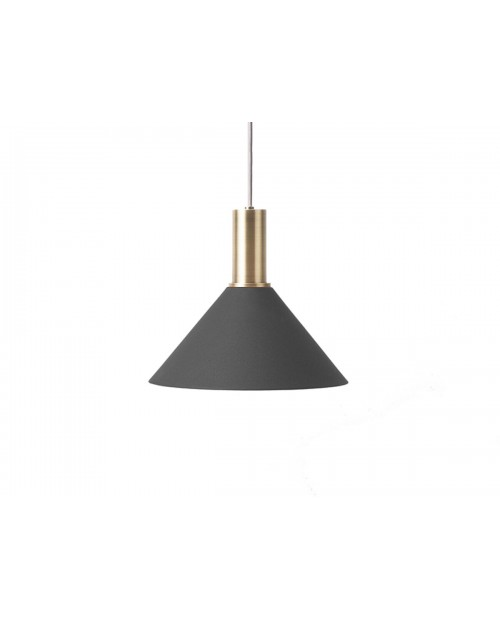 Ferm LIVING Collect Pendant with Cone Shade and Brass Socket