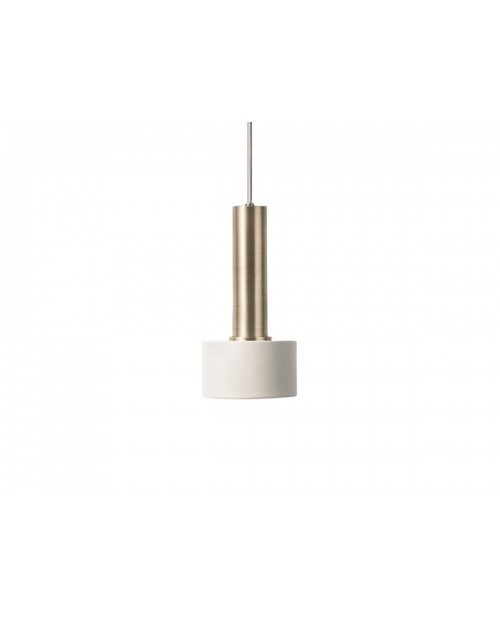 Ferm LIVING Collect Pendant with Disc Shade and High Brass Socket