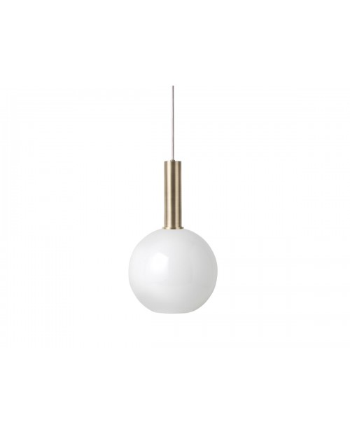 Ferm LIVING Collect Pendant with Opal Sphere Shade and Brass Socket