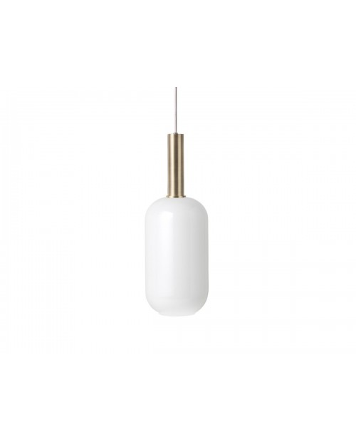 Ferm LIVING Collect Pendant with Opal Tall Shade and Brass Socket