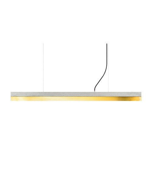 GANTlights [C] Concrete & Brass Pendant Lamp
