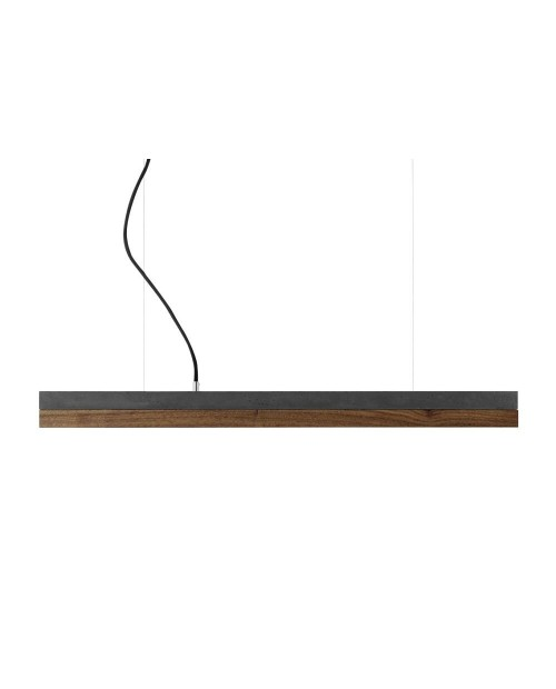 GANTlights [C] Concrete & Walnut Pendant Lamp