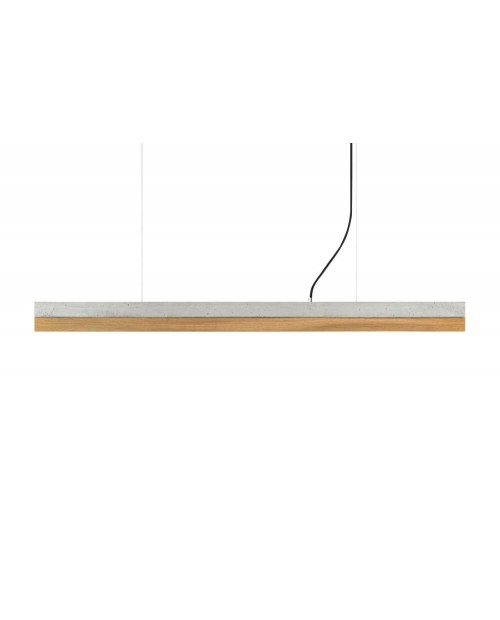 GANTlights [C] Concrete & Oak Pendant Lamp
