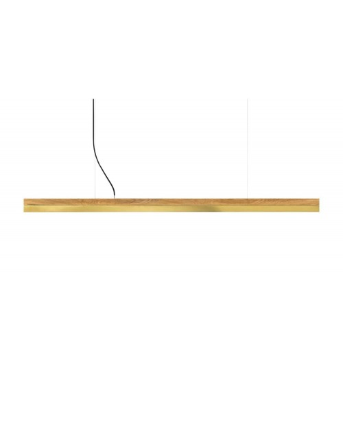 GANTlights [C] Oak & Brass Pendant Lamp