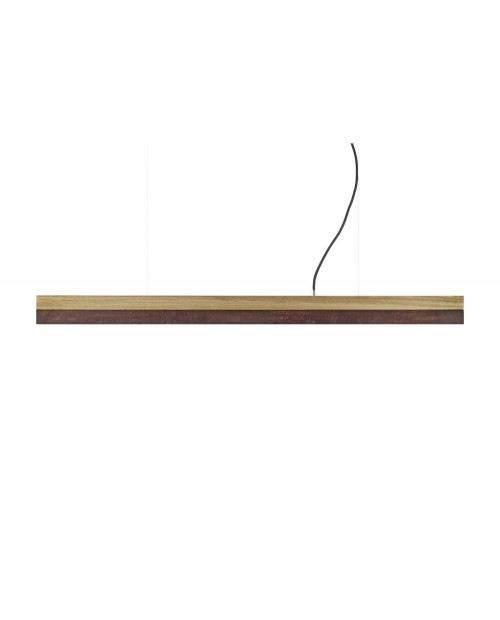 GANTlights [C] Oak & Corten Steel Pendant Lamp