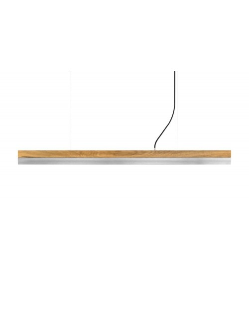 GANTlights [C] Oak & Stainless Steel Pendant Lamp