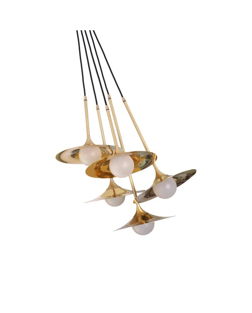 Intueri Light Bullarum SS-5 with Disc Pendant Lamp