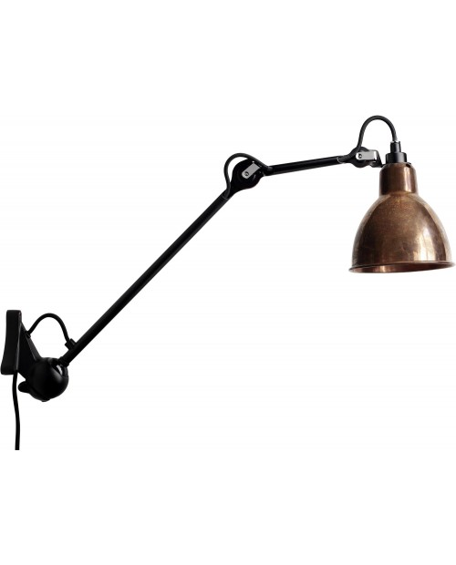 Lampe Gras No222 Wall Lamp Black Body