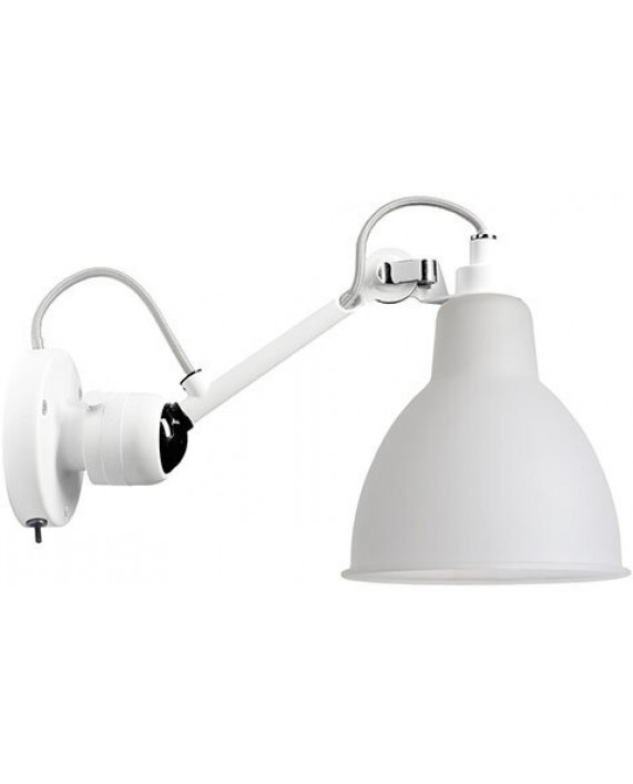 Lampe Gras No304SW Switched Wall Lamp White Body