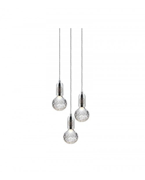 Lee Broom Crystal Bulb 3 Piece Chandelier