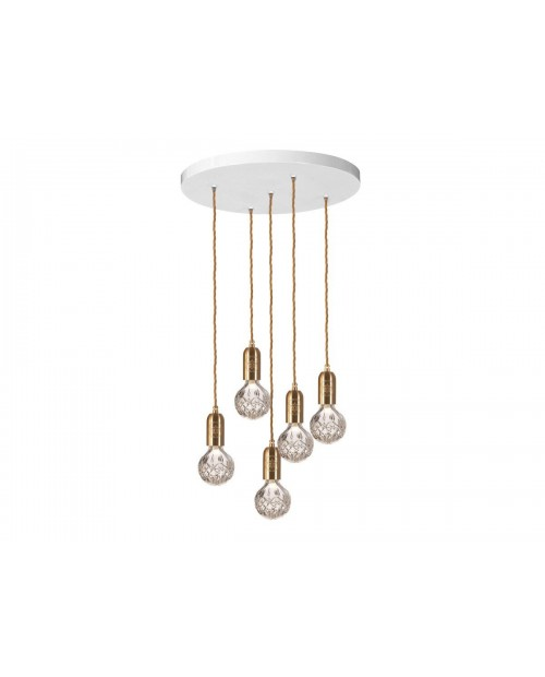 Lee Broom Crystal Bulb 5 Piece Chandelier