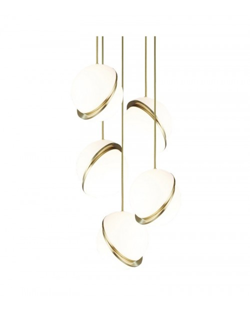 Lee Broom Mini Crescent 5 Piece Chandelier