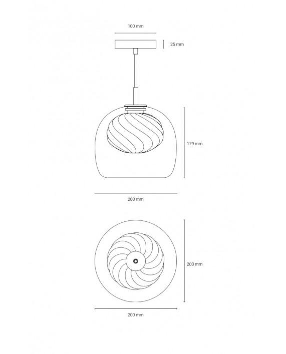 Oblure Inside Pendant Lamp
