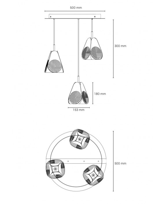 Oblure Notic Triplette Pendant Lamp