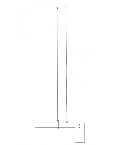 RUBN Wire Suspension for Long Kennedy Pendant Lamp