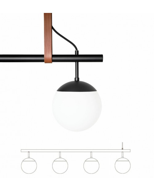 RUBN Long Lord 4 Pendant Lamp