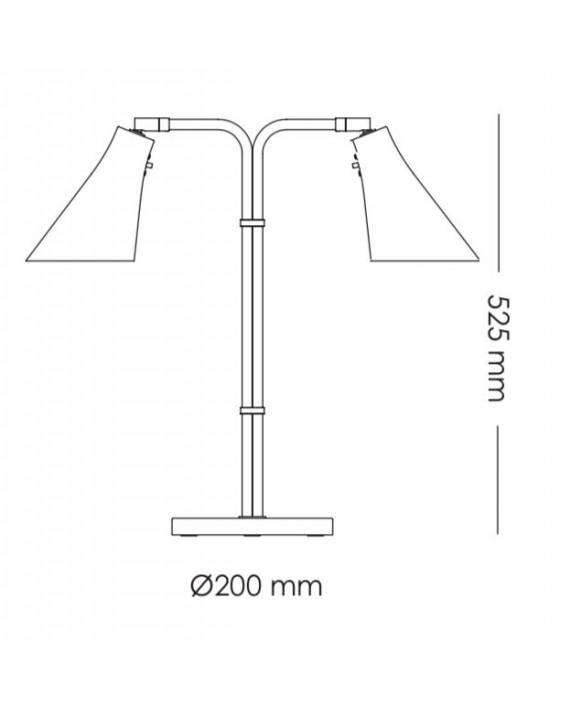 RUBN Miller Twin Table Lamp