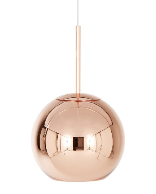 Tom Dixon Copper Round Pendant Lamp