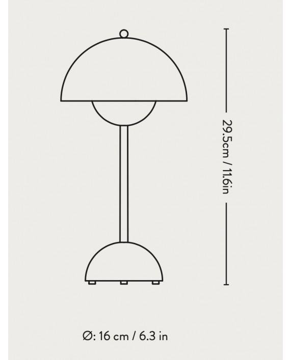 &Tradition Flowerpot VP9 Portable Table Lamp