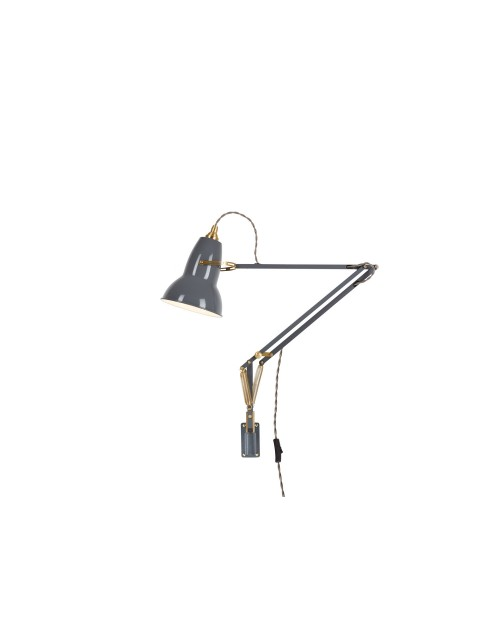Anglepoise Original 1227 Brass Lamp with Wall Bracket