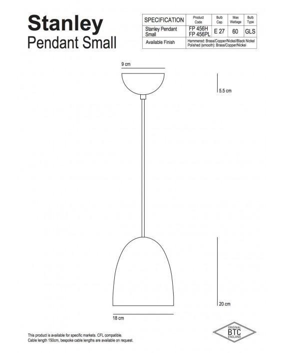 Original BTC Stanley Pendant Lamp
