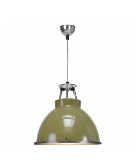 Original BTC Titan Size 1 Pendant Lamp With Etched Glass
