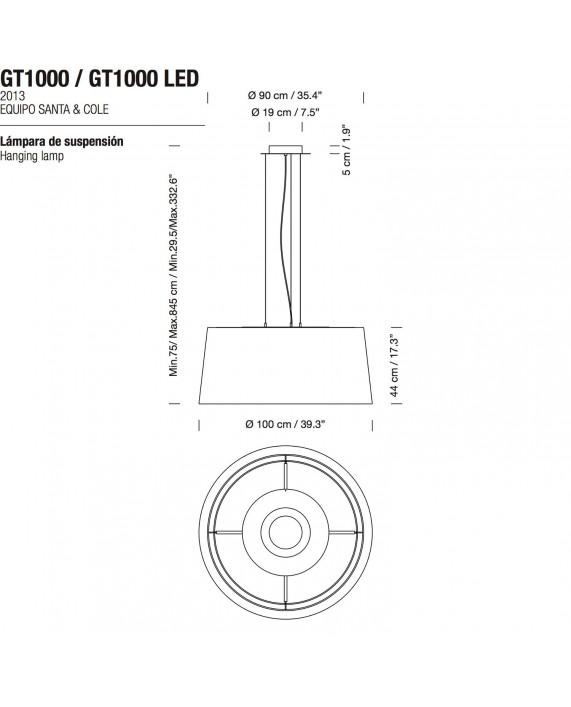 Santa & Cole GT1000/GT1500 Pendant Lamp