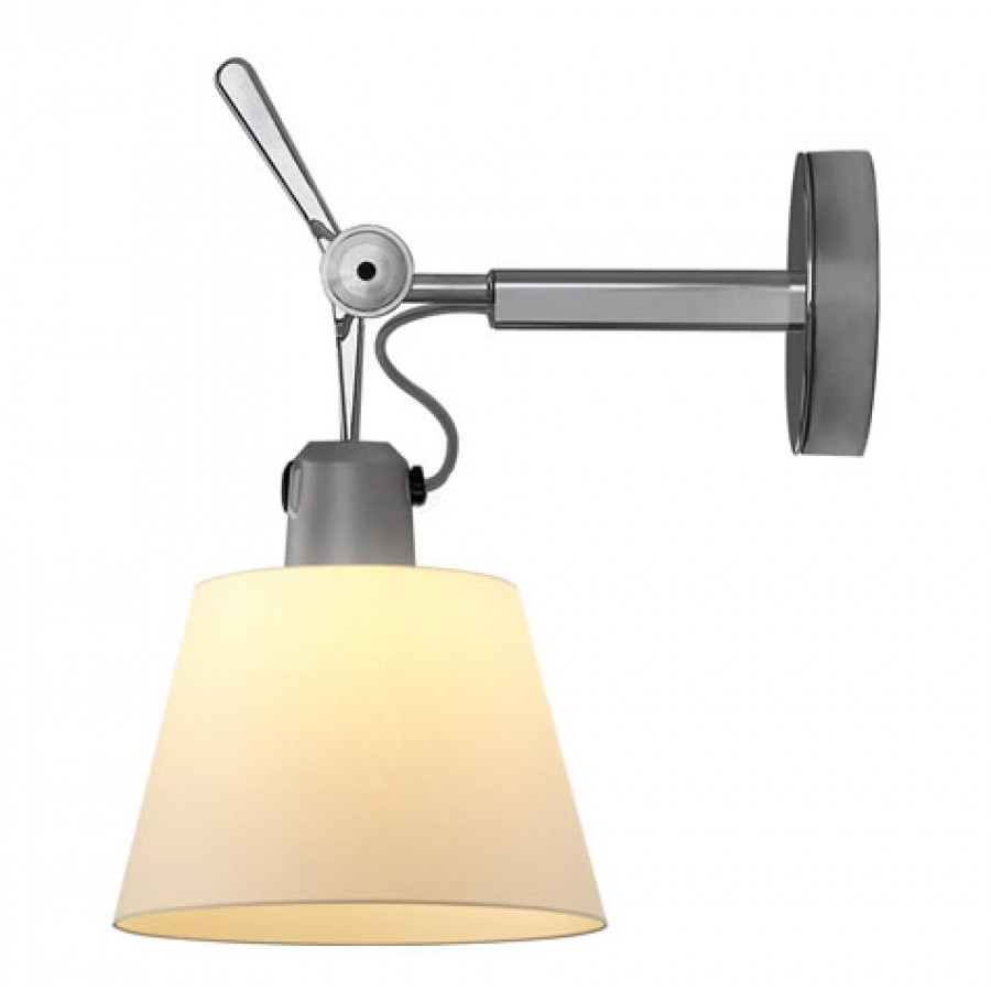 Tolomeo Wall Mount Lamp Parchment Shade : Artemide Tolomeo Parete Diffusore Wall Lamp