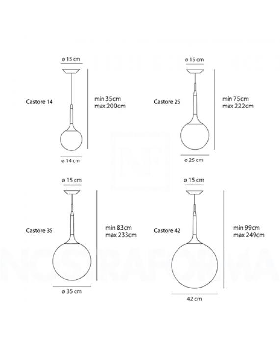 Artemide Castore Suspension Lamp